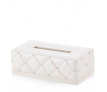 Krabička na obrúsky DIAMENTO BIELA