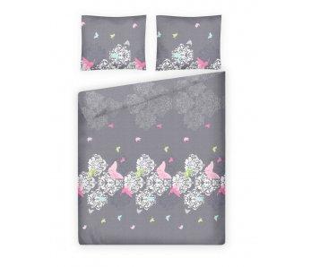 Komplet posteľná bielizeň TALE Sivá