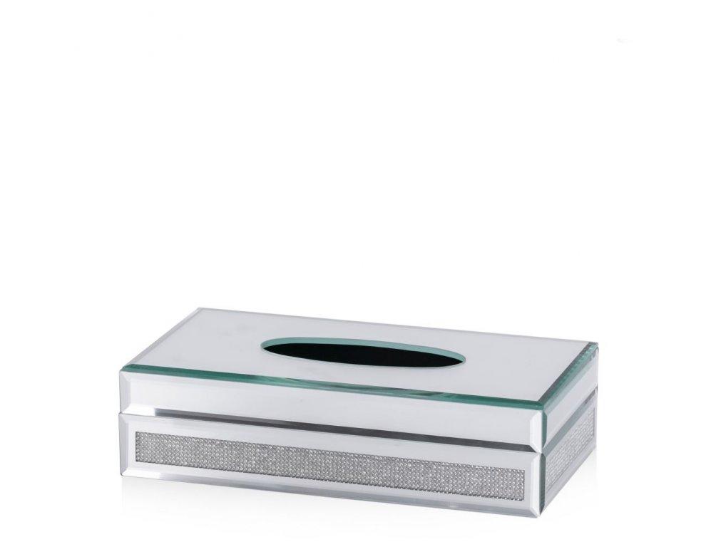 Krabička na obrúsky DIAMANTINO STRIEBORNÁ