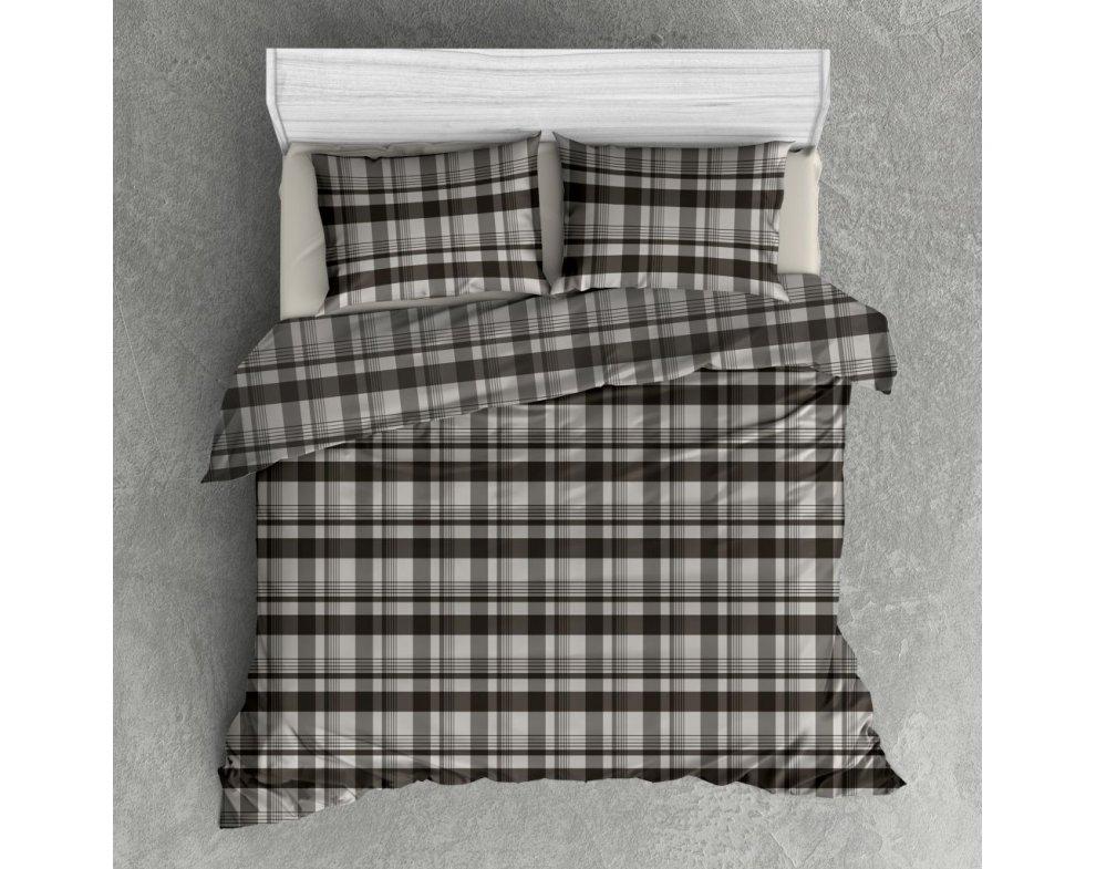 Flanelová posteľná bielizeň  FLADBURY Sivá