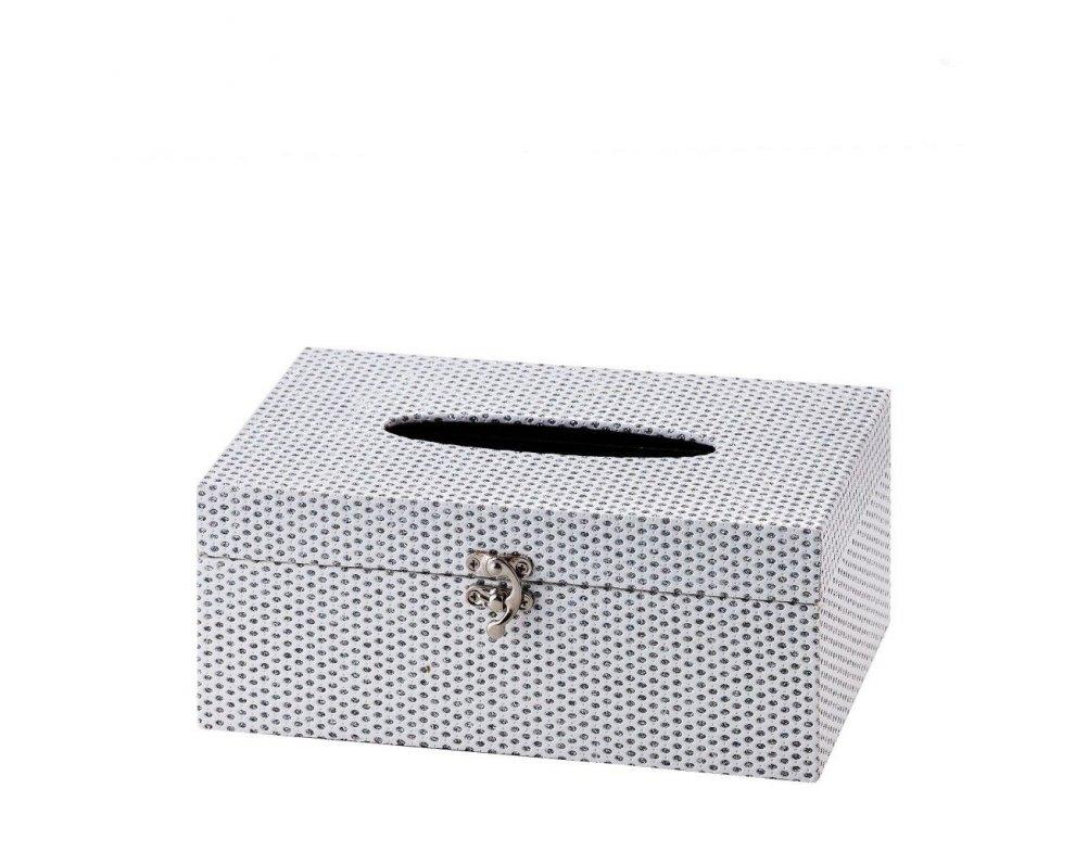 Krabička na obrúsky LUMININOS RECT BIELA