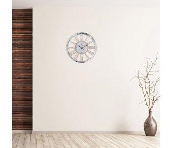 Nástenné hodiny EROMA drevo STRIEBORNÁ