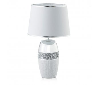 Stolná lampa STARDUST STRIEBORNÁ