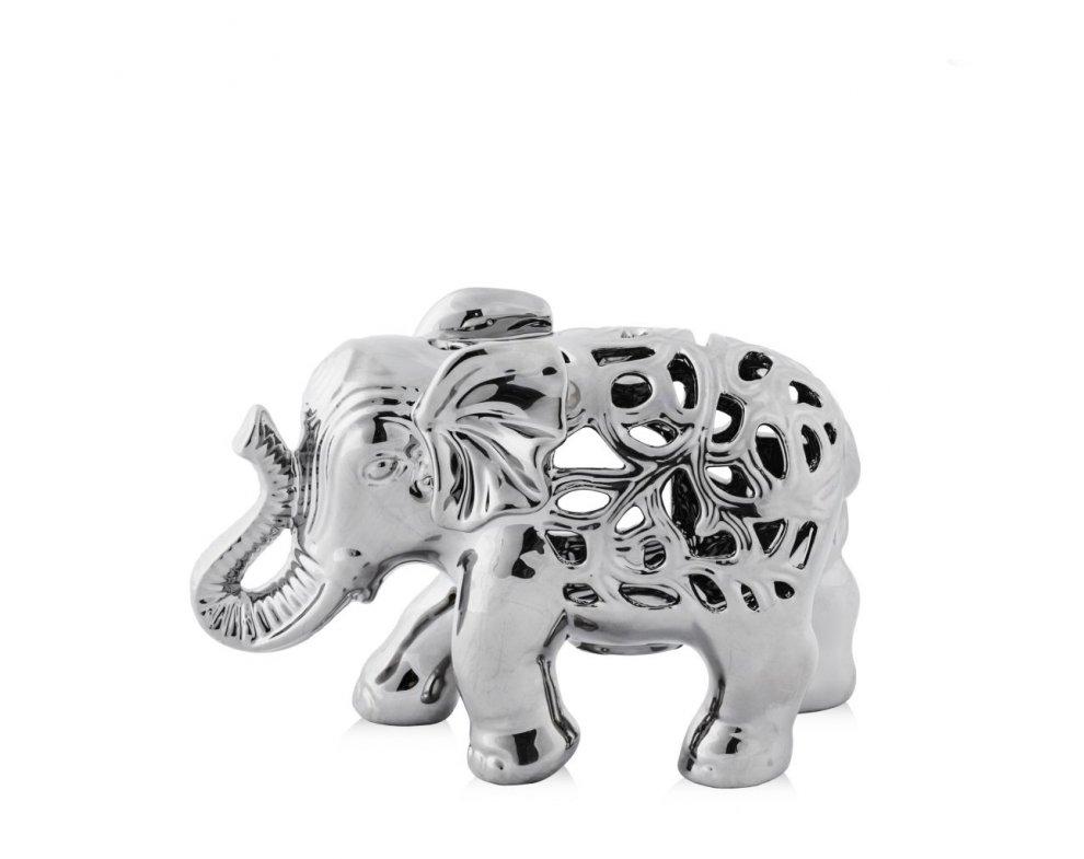 Svietník AJUROSO ELEPHANT STRIEBORNÁ
