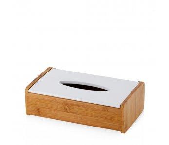 Krabička na obrúsky drevoS BIELA