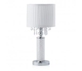 Stolná lampa DUST COLUMN BIELA