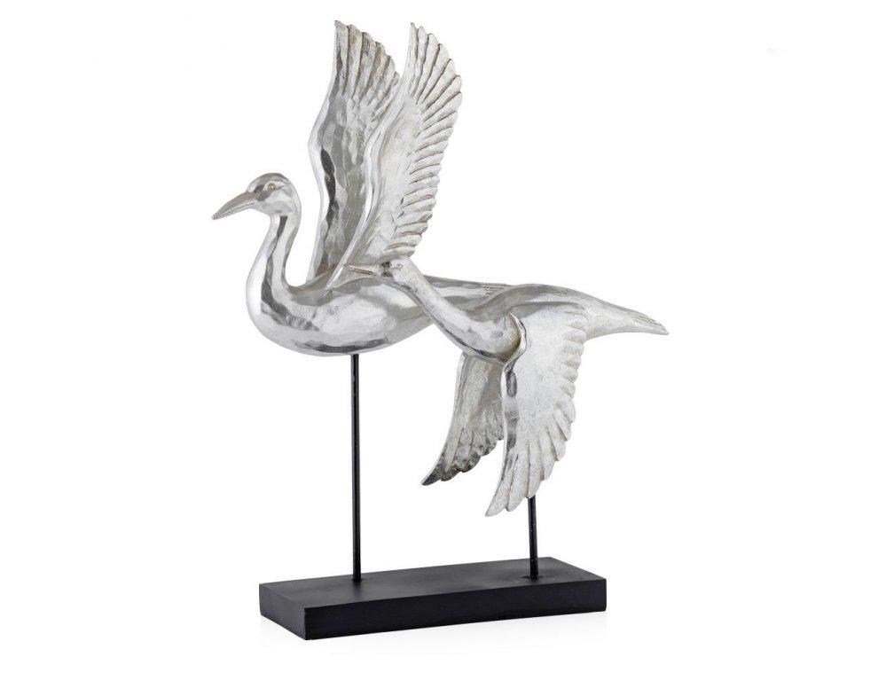 Dekorácia FREEBIRD STRIEBORNÁ