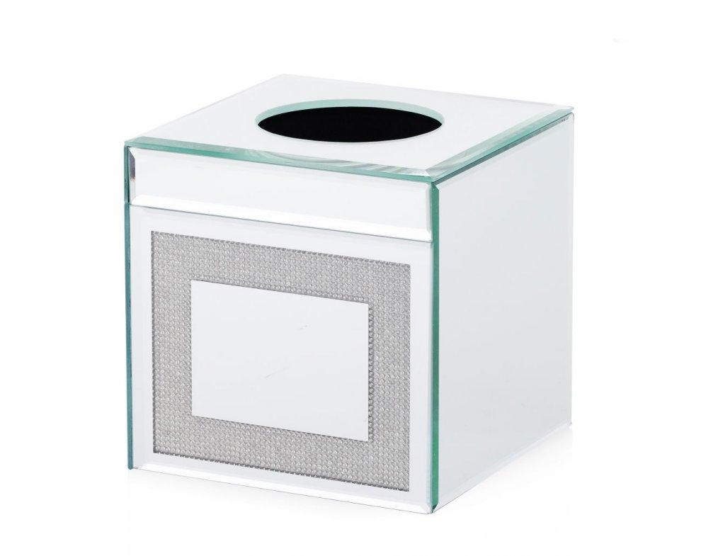 Krabička na obrúsky LEXA STRIEBORNÁ