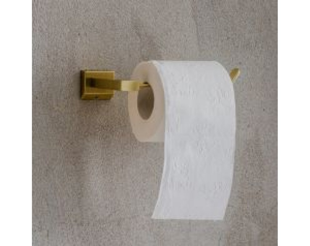 Držiak na toaletný papier zlatý