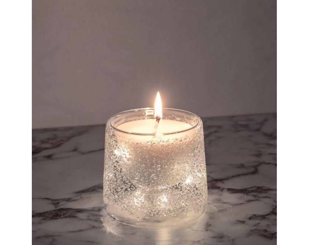 LED sviečka CALORE BIELA