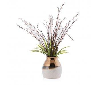 Váza s umelým kvetom WILLOW