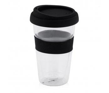 Sklenený pohár BULLES ČIERNA