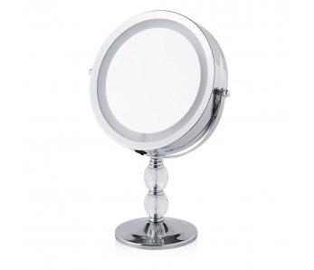 LED zrkadlo TELESCOPIC STRIEBORNÁ