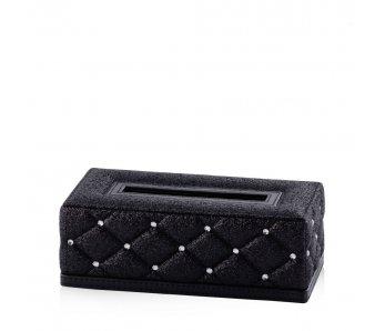 Krabička na obrúsky DIAMENTO ČIERNA