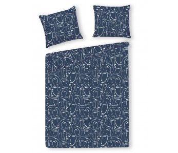 Saténová posteľná bielizeň MASCARADE 160x200