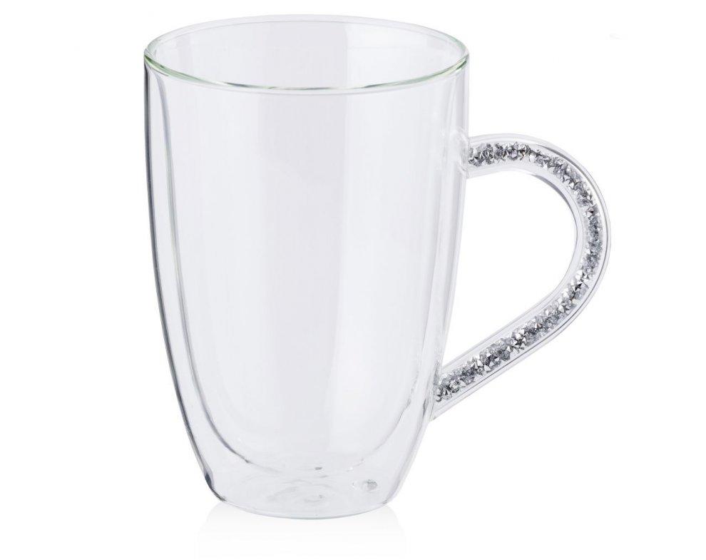 Sklenený pohár BRILLIANTS2 STRIEBORNÁ