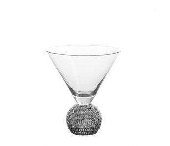 Pohár na martini DIAMONDS STRIEBORNÁ