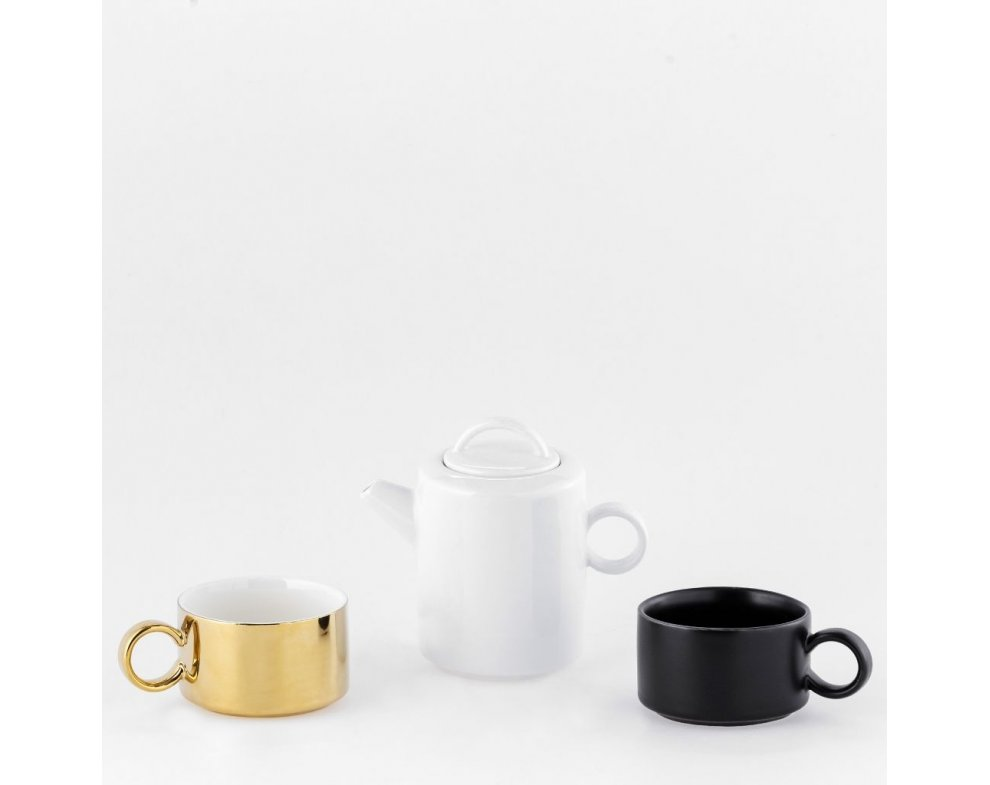 Čajník so šálkou TRAFRO FAREBNÁ