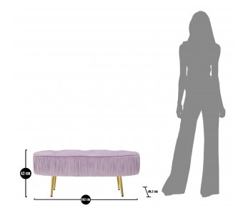 Elegantná lavica OVALLY ROSSA