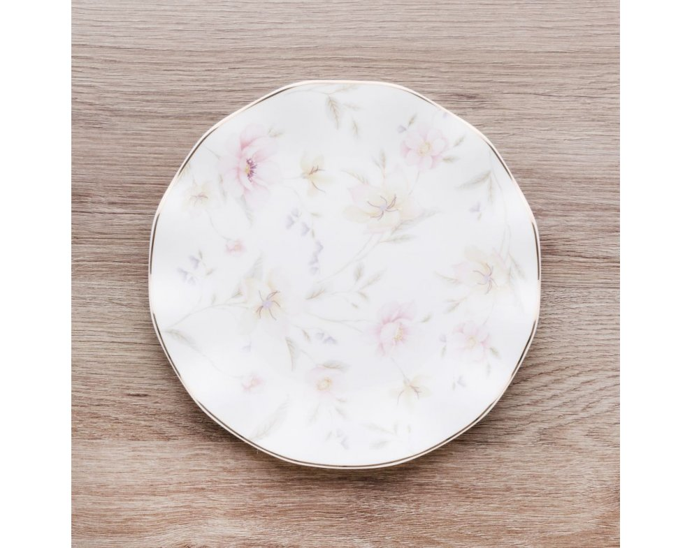 Dezertný tanier PASTELFLOWER BIELA